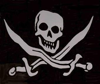 Texto de aventuras para la clase de lenguas: La Isla del Ángel Negro. 20060824180811-bandera-pirata-8